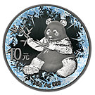 10 Yuan Silbermünze China Deep Frozen Edition Panda 2017 ST