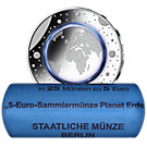 25 x 5 Euro Münzrolle BRD 2016 A Blauer Planet, St