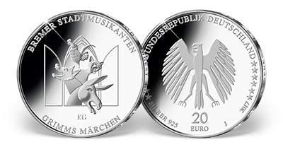 20-Euro-Gedenkuenze -  Bremer Stadtmusikanten