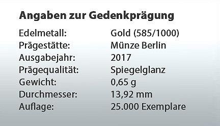 Die Gold Ergänzungsprägung Tropische Zone Neuheiten Mdm