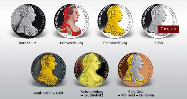 Maria Theresien Taler - aller Ausgaben
