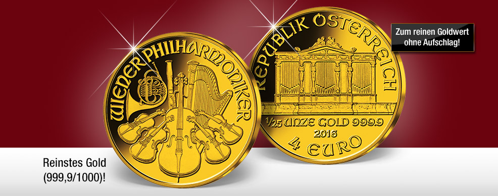 125 Unze Gold Philharmoniker Zum Goldpreis Imm Münz Institut
