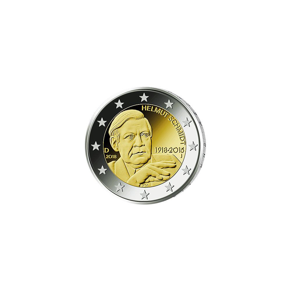 2 Euro Münze Brd 2018 Helmut Schmidt J Münzen Günstigerde
