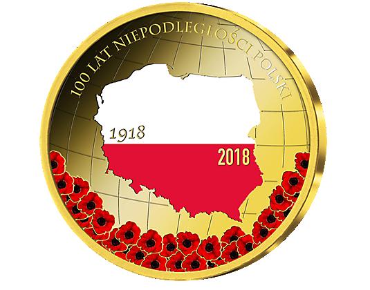 Gedenkprägung 100 Jahre Unabhängigkeit Polen 2018 Mdm Deutsche Münze