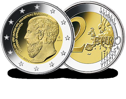 2 Euro Griechenland 2013 Platonische Akademie In Athen Mdm