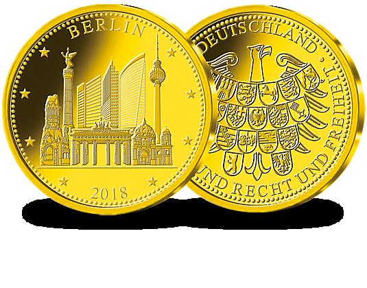 Goldprägung Berlin Zur 2 Münze Mdm Deutsche Münze
