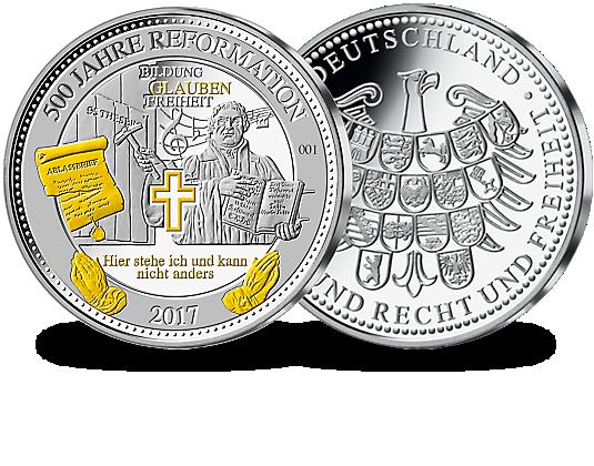Silbermünze 500 Jahre Reformation Mdm Deutsche Münze