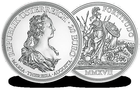 Silbermünze österreich 2017 Maria Theresia Mdm Deutsche Münze