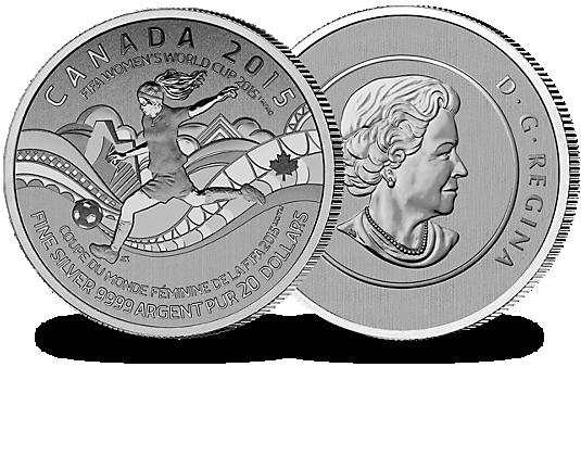 Monnaie de 20 dollars la coupe du monde f minine de la - Coupe du monde feminine de la fifa canada 2015 ...