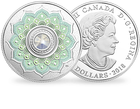 Monnaie 5 Dollars Pierre De Naissance Octobre 2018 Neu Im Shop