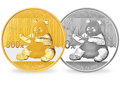 China 2017 'Panda Proof Ausgaben'