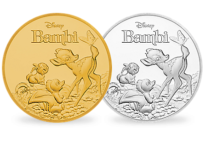 Disney's Bambi 75th Anniversary Gold & Silver Coins