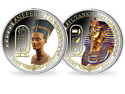 Nefertiti and Tutankhamun 2014 Fine Silver Commemorative Coins