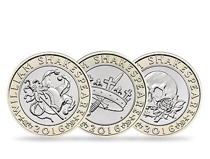 'The Shakespeare' £2 Three-Coin Brilliant Uncirculated Set