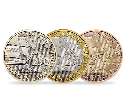 250th Anniversary of Captain James Cook's Voyage of Discovery £2 Coins