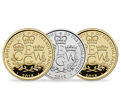 The Royal Mint's Four Generations of Royalty 2018 Coins