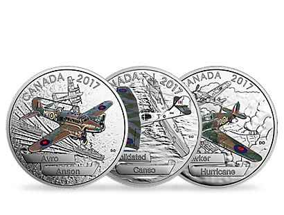 Aircraft of the Second World War Silver Coins