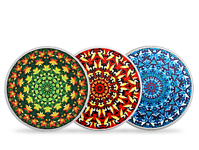 Canadiana Kaleidoscope Silver Coins