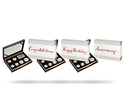 Milestones and Celebrations 2018 Six-Coin Proof Set - Anniversary, Congratulations, and Happy Birthday Gifts