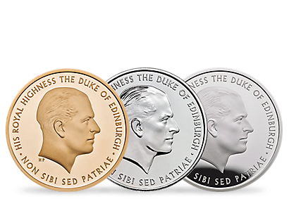 The Royal Mint's Prince Philip: Celebrating a Life of Service 2017 Gold, Silver, and BU Coins