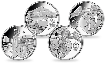Rio 2016 - Set of 4 Commemorative Silver Coins