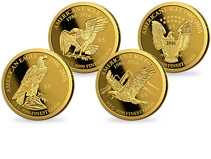 30th Anniversary of the American Eagle Collection - Gold coin Set