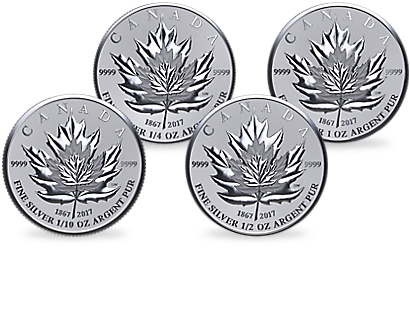 Silber Maple Leaf Set 2017