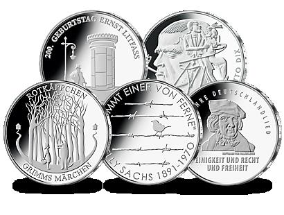 20 Euro Münzen Deutschland 2016 Ausreise Info