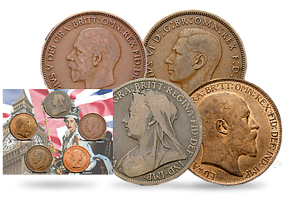 British Pennies from Victoria to Elizabeth II