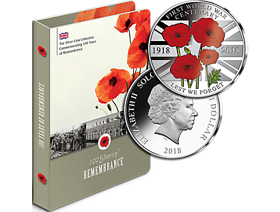 First World War Centenary Prooflike Silver Plated Coin