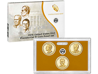 Presidential $1 Coin Program Gold Proof 3-Coin Set