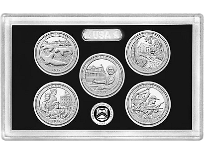 USA 2017 5er Set 'Quarters'