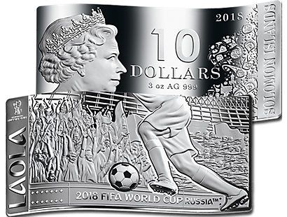 2018 FIFA World Cup™ LAOLA Wave-Shaped 3oz Silver Coin Bar