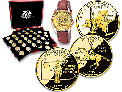 US State Quarters Gold-Plated Coin Collection