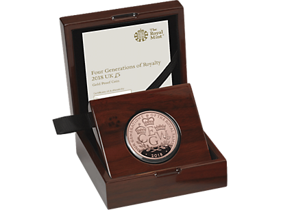 The Four Generations of Royalty 2018 £5 Gold Proof Coin