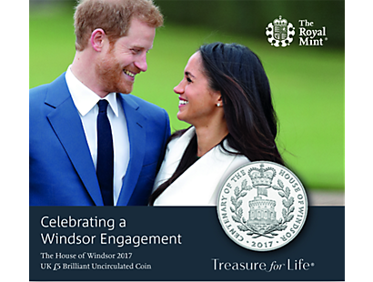 Celebrating a Windsor Engagement 2017 £5 Brilliant Uncirculated Coin