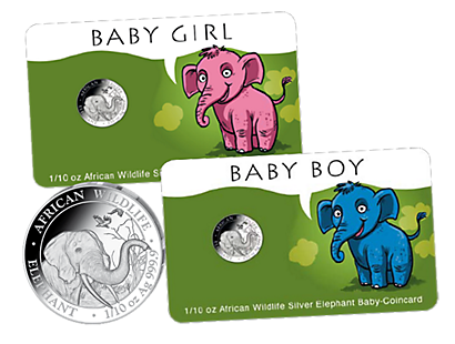 African Wildlife – Baby Coincards