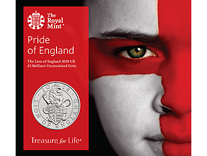 The Pride of England 2018 £5 Brilliant Uncirculated Coin