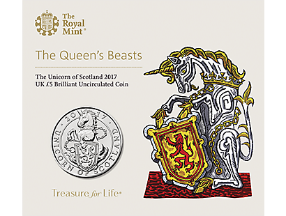 The Queen's Beasts - The Unicorn of Scotland 2017 £5 Brilliant Uncirculated Coin