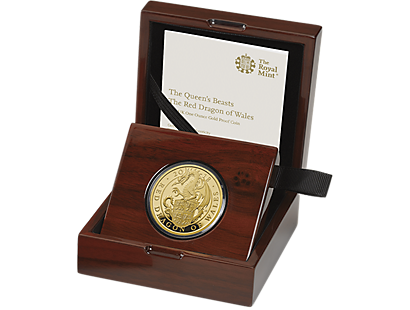 The Queen's Beasts - The Red Dragon of Wales 2018 1oz Gold Proof £100 Coin