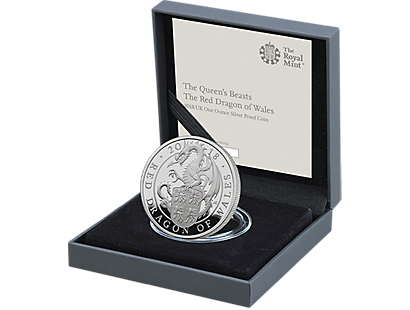 The Red Dragon of Wales 2018 £5 Silver Proof Coin