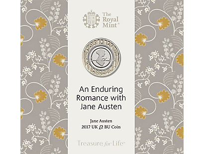 An Enduring Romance with Jane Austen 2017 Brilliant Uncirculated £2 Coin