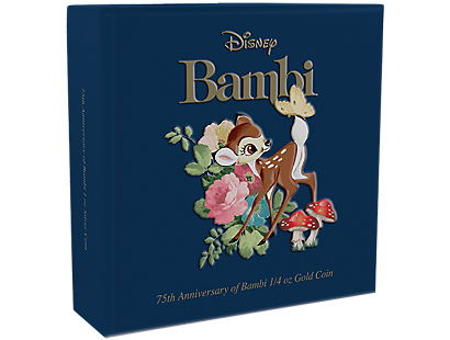 Bambi 75th Anniversary 1/4 oz Gold Coin