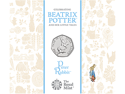 Peter Rabbit 2017 Brilliant Uncirculated 50p Coin