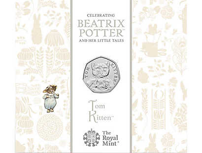 Tom Kitten 2017 Brilliant Uncirculated 50p Coin