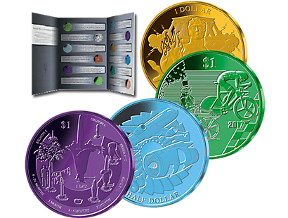 The Ultimate Colour Explosion: The Titanium Coin Collection