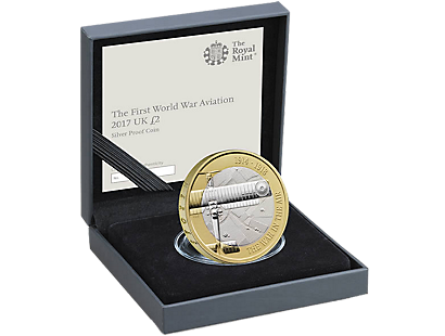 First World War Aviation 2017 £2 Silver Proof Coin