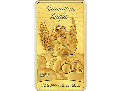 Guardian Angel Pure Gold $10 Rectangular Coin