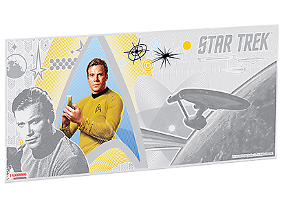 Star Trek Original Series – Captain James T. Kirk Silver Coin Note