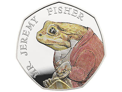 Celebrating Beatrix Potter and Her Little Tales - Mr. Jeremy Fisher Silver Proof 50p Coin